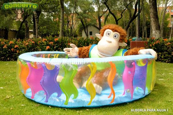 Conguito inflables juegos para ni os botargas m xico for Piscina bebe con parasol